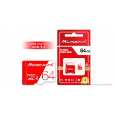 Authentic MICRODATA Class 10 microSD Memory Card (64GB)