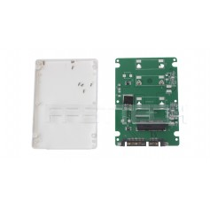 "As-Is Mini PCI-E mSATA SSD to 7mm 2.5"" SATA HDD Enclosure"
